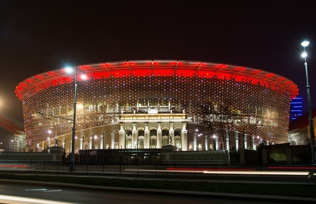 В Екатеринбурге завершилось строительство стадиона ЧМ–2018