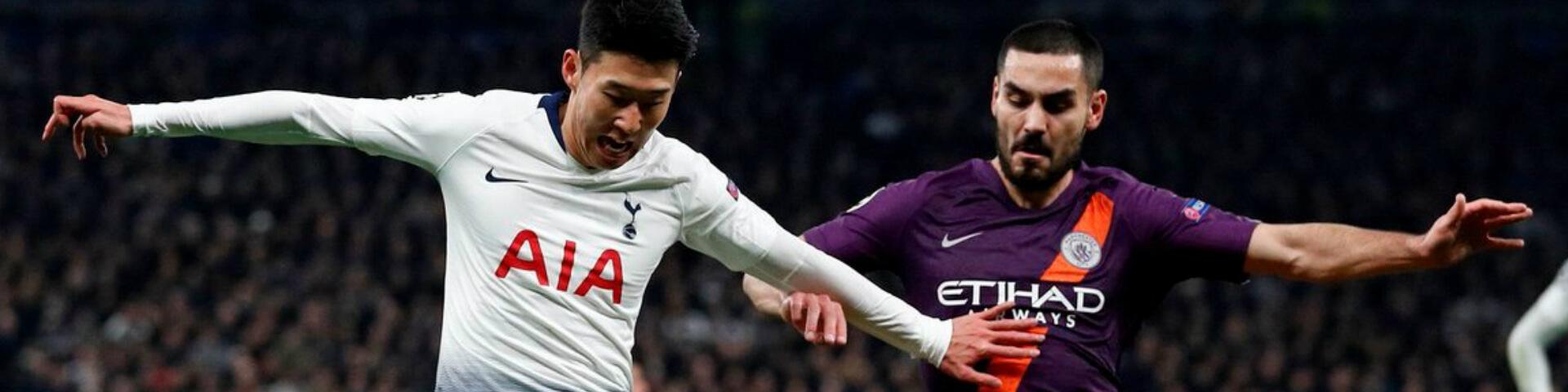 Букмекеры: «Манчестер Сити» обыграет «Тоттенхэм» и пройдёт дальше